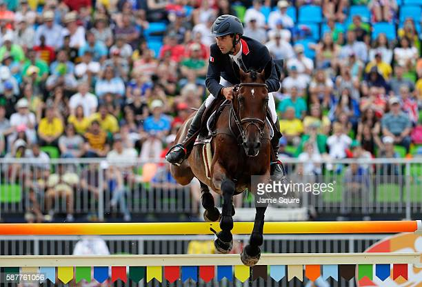 Astier Nicolas of France during the eventing team jumping final on Day 4 of the Rio 2016 Olympic Games at the Olympic Equestrian Centre on August 9,...
