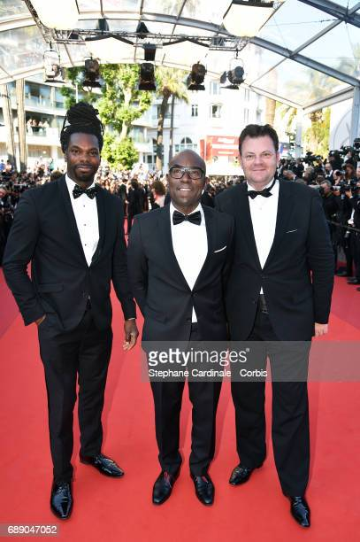 Asto KrosLucien Jean Baptiste and a guest attend the 'Based On A True Story' screening during the 70th annual Cannes Film Festival at Palais des...