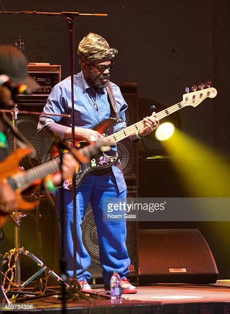 Aston Barrett of The Wailers performs during The Wailers 30th Anniversary Performance at The Apollo Theater on November 29 2014 in New York City