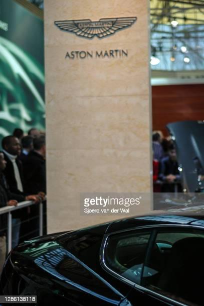 Aston DB9 sports car on display at Amsterdam motor show AutoRAI on February 19, 2005 in Amsterdam, The Netherlands.