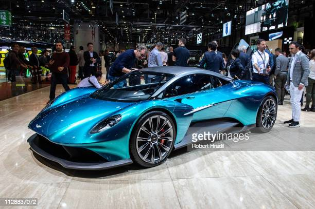 Aston Martin 003 is displayed during the second press day at the 89th Geneva International Motor Show on March 6 2019 in Geneva Switzerland