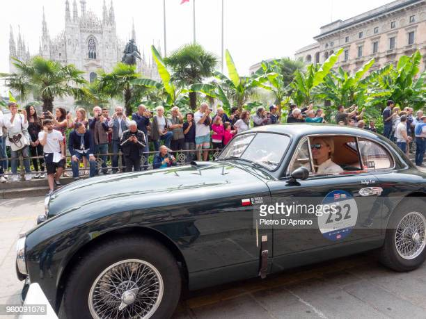 Aston Martin DB 2 Vantage during 1000 Miles Historic Road Race on May 19 2018 in Milan Italy