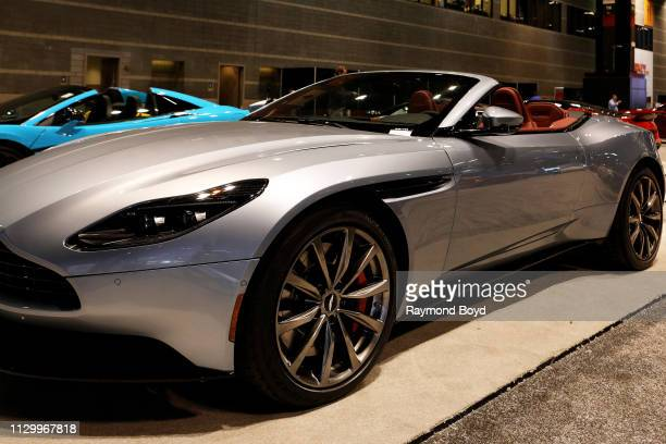 Aston Martin DB11 is on display at the 111th Annual Chicago Auto Show at McCormick Place in Chicago, Illinois on February 7, 2019.