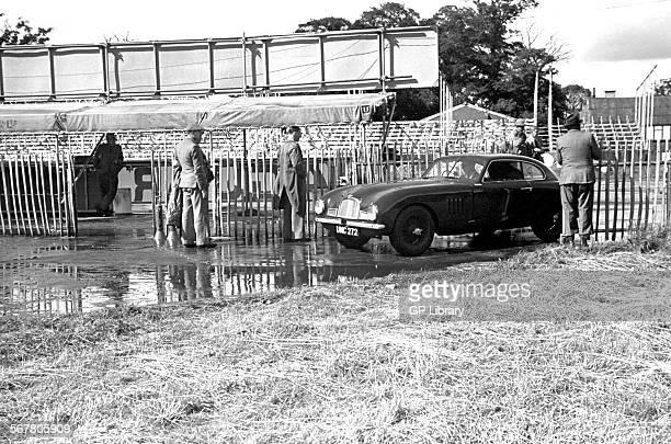 Aston Martin DB2 UMC 272 driving into the paddock at Goodwood England 1950