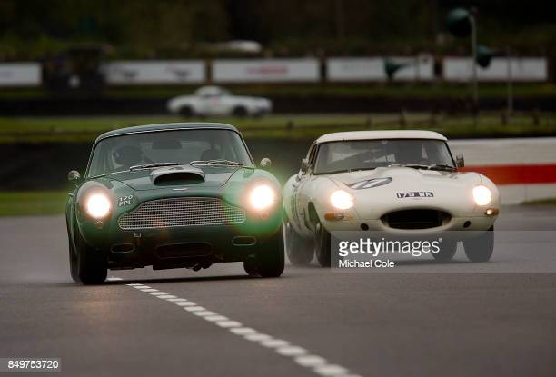Aston Martin DB4GT driven by entrant Chris LillingstonePrice Ian Dalglish in the Kinrara Trophy at Goodwood on September 8th 2017 in Chichester...