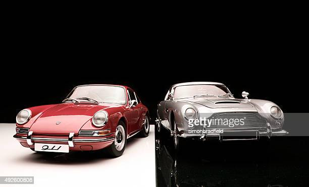 Aston Martin DB5 And Porsche 911 Model Cars