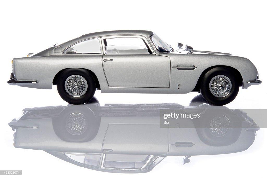 Aston Martin DB5 Classic James Bond Sports Car Model : Stock Photo