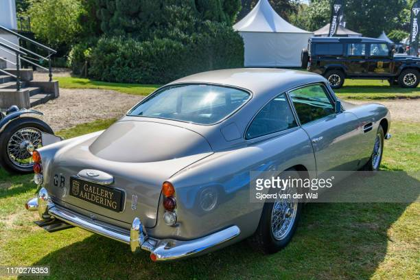 Aston Martin DB5 on display at the 2019 Concours d'Elegance at palace Soestdijk on August 25 2019 in Baarn Netherlands The DB5 is known as the James...