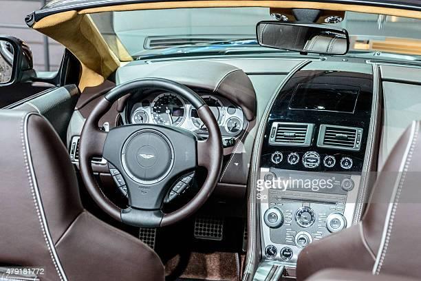 Aston Martin DB9 Volante convertible sports car interior
