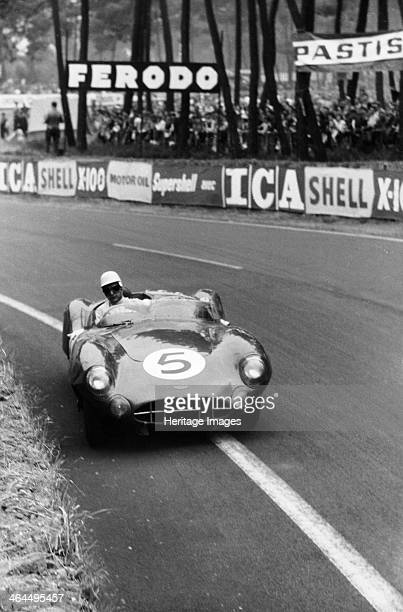 Aston Martin DBR1 in action Le Mans 24 Hours France 1959 The car driven by Roy Salvadori and Carroll Shelby won the race