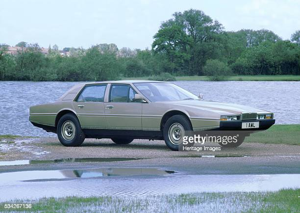 Aston Martin Lagonda at waterside, 2000.