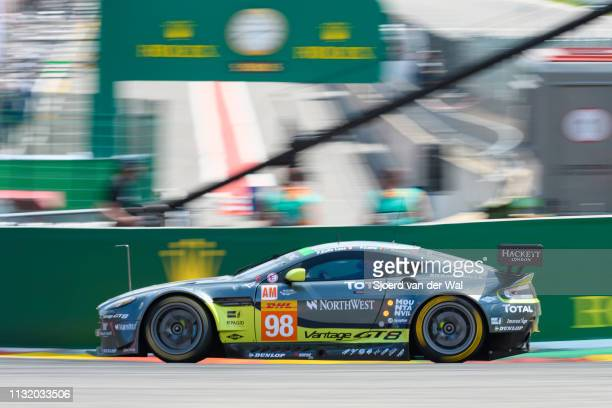 Aston Martin Racing Aston Martin GT8 Vantage of Pedro Lamy, Paul Dalla Lana and Mathias Lauda on track during the 6 Hours of Spa-Francorchamps race,...