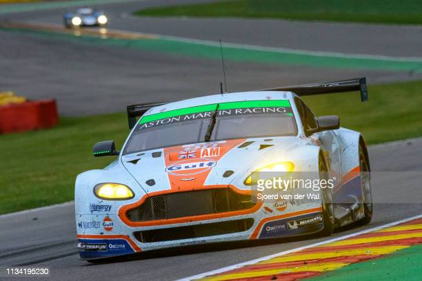 Aston Martin Racing Aston Martin Vantage V8 driven by DALLA LANA P LAMY P LAUDA M driving through on track during the 6 Hours of SpaFrancorchamps...