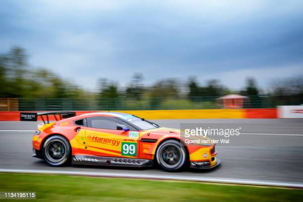 Aston Martin Racing Aston Martin Vantage V8 driven by MACDOWALL A REES FSTANAWAY R driving on track during the 6 Hours of SpaFrancorchamps race the...
