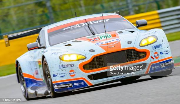 Aston Martin Racing Aston Martin Vantage V8 driven by NYGAARD C SØRENSEN MADAM J driving on track during the 6 Hours of SpaFrancorchamps race the...