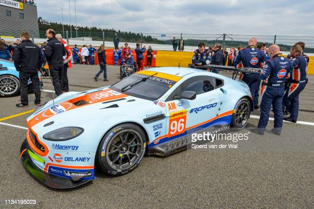 Aston Martin Racing Aston Martin Vantage V8 race car at the start grid during the 6 Hours of SpaFrancorchamps race the second round of the 2015 FIA...