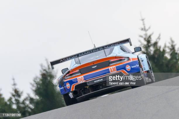 Aston Martin Racing Aston Martin Vantage V8 racing car driven by CASTELLACCI F GOETHE RHALL S driving on track during the 6 Hours of SpaFrancorchamps...