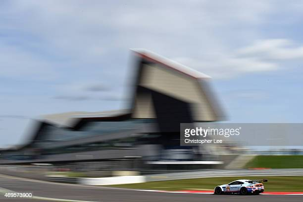 Aston Martin Racing car driven by Francesco Castellacci of Italy, Roald Goethe of Germany and Stuart Hall of Great Britain in action during the FIA...