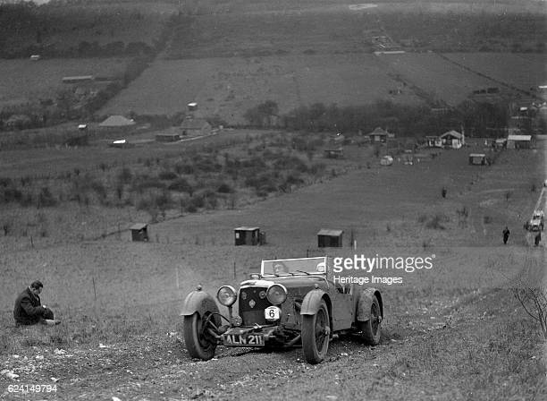 Aston Martin Sports competing in the London Motor Club Coventry Cup Trial Knatts Hill Kent 1938 Artist Bill BrunellAston Martin Sports 1933 1496 cc...