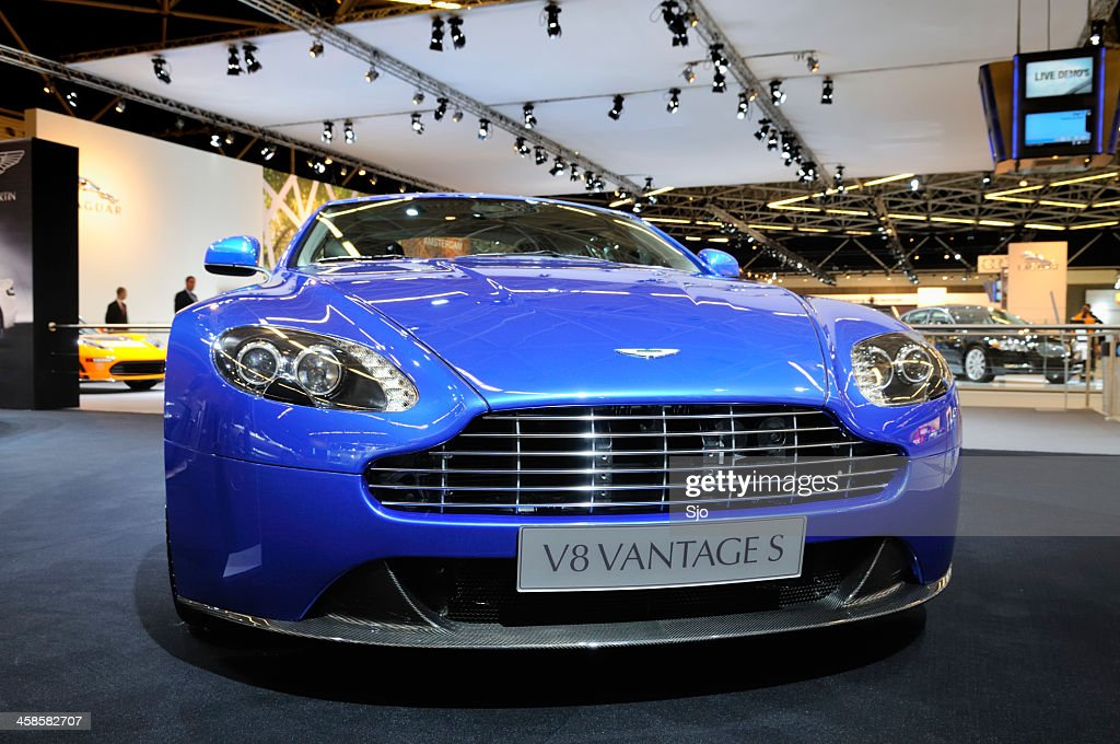 Aston Martin V8 Vantage Sports Car Front View Stock Photo Getty Images