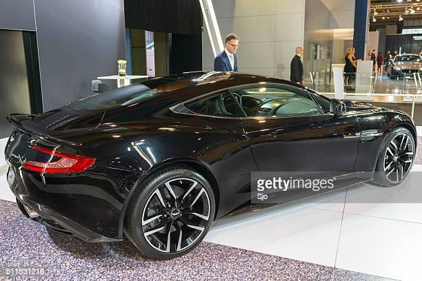 aston martin vanquish coupe sports car - aston martin vanquish stock photos and pictures