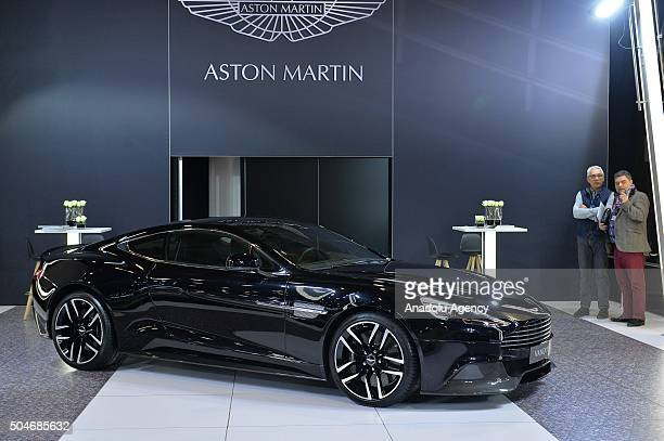 Aston Martin Vanquish on display during the Brussels Auto Show at Expo Center in Brussels Belgium on 12 2016