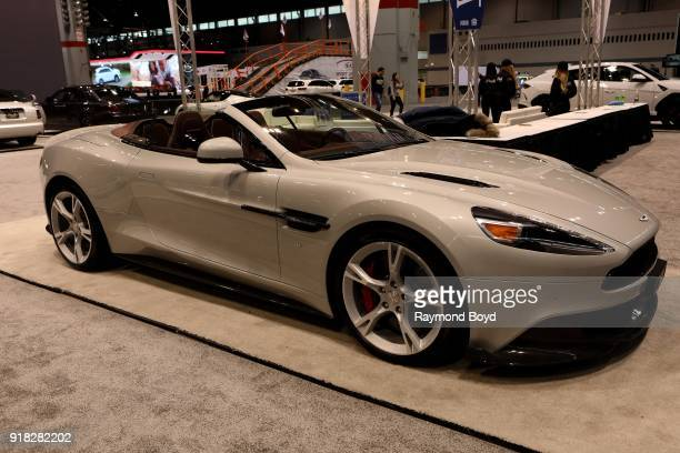 Aston Martin Vanquish S is on display at the 110th Annual Chicago Auto Show at McCormick Place in Chicago Illinois on February 8 2018