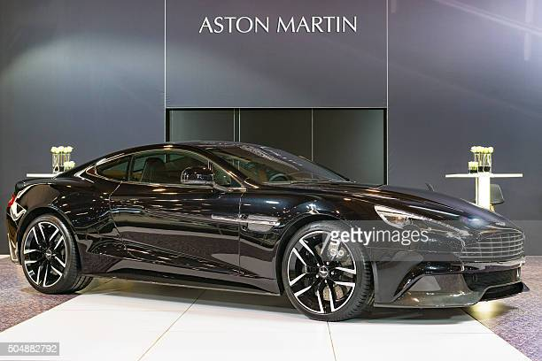 aston martin vanquish sports car - v12 stock photos and pictures