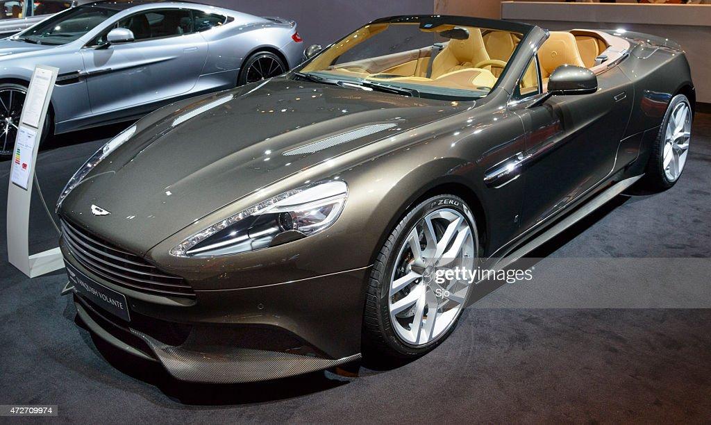 Aston Martin Vanquish Volaten Sports Car Front View Stock Photo