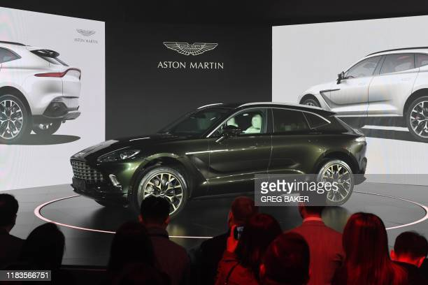 Aston Martin's DBX SUV is seen at its world premiere in Beijing on November 20 2019 Aston Martin launched its first ever SUV in the Chinese capital...