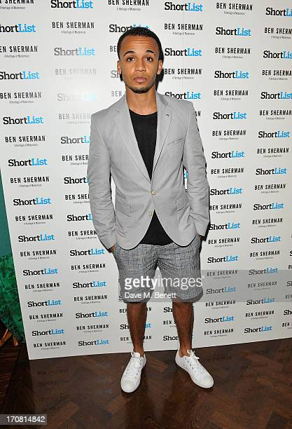 Aston Merrygold attends the London Collections Men ShortList Ben Sherman Party at Sketch on June 18 2013 in London England