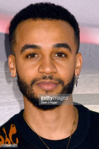 """Aston Merrygold attends the """"Paw Patrol"""" gala screening at Cineworld Leicester Square on January 19, 2020 in London, England."""