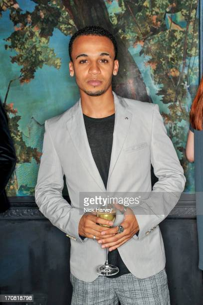 Aston Merrygold attends the Shortlist and Ben Sherman party during the London Collections MEN SS14 at Sketch on June 18 2013 in London England