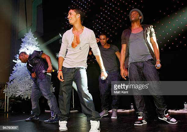 JB Aston Merrygold Marvin Humes and Oritse Williams of JLS perform at a concert in aid of Rays of Sunshine acharity raising money for seriously ill...