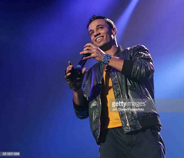 Aston Merrygold of JLS performing on stage at Wembley Arena in London on the 22nd December 2010