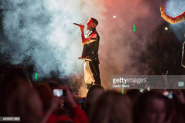 Aston Merrygold of JLS performs on stage at Nottingham Capital FM Arena on December 4 2013 in Nottingham United Kingdom