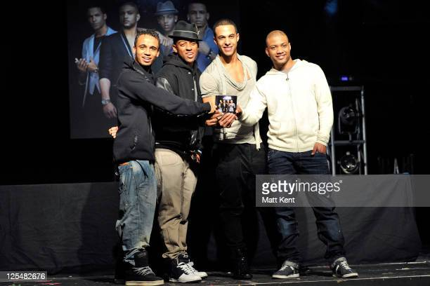 Aston Merrygold Oritse Williams Jonathan 'JB' Gill and Marvin Humes of JLS promote their new album 'Outta This World' at Heaven on November 22 2010...