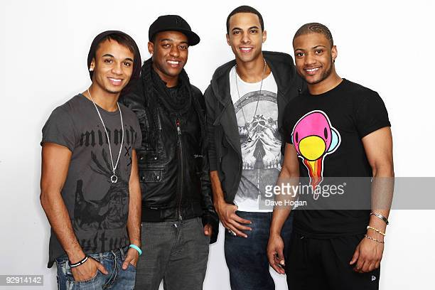 Aston Merrygold Ortise Williams Marvin Humes and Jonathan 'JB' Gill of JLS pose for portraits to launch their new studio album JLS on November 3 2009...