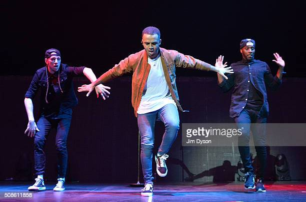 Aston Merrygold performs live on stage at the O2 Arena on February 5 2016 in London England