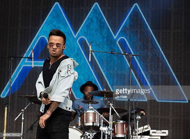 Aston Merrygold performs on stage at Fusion Festival at Cofton Park on August 28 2015 in Birmingham England