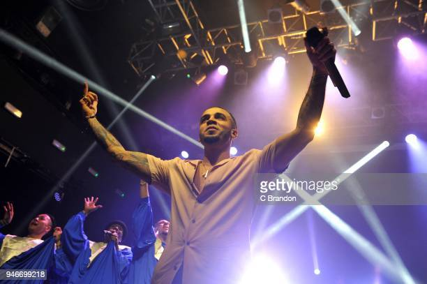 Aston Merrygold performs on stage at KOKO on April 15 2018 in London England