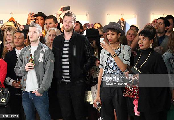 Aston Merrygold Russell Tovey Kimberly Wyatt and Rick Edwards attend the John Lewis debut presentation at London Collections Men where the British...