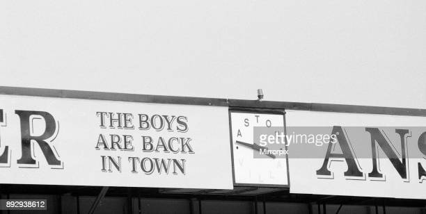 Aston Villa 02 Birmingham City league division 2 match at Villa Park Saturday 22nd August 1987