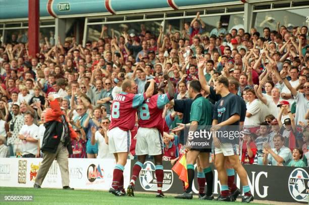 Aston Villa 3 1 Manchester United Premiership match held at Villa Park 19th August 1995