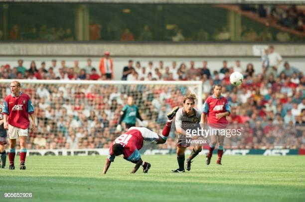 Aston Villa 3 1 Manchester United Premiership match held at Villa Park Gary Neville 19th August 1995