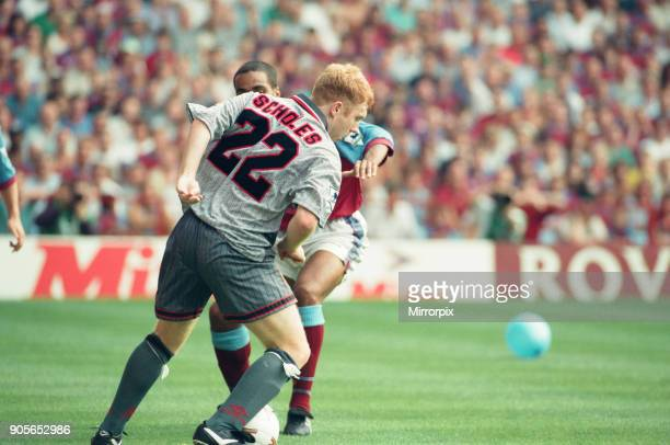 Aston Villa 3 1 Manchester United Premiership match held at Villa Park Paul Scholes 19th August 1995