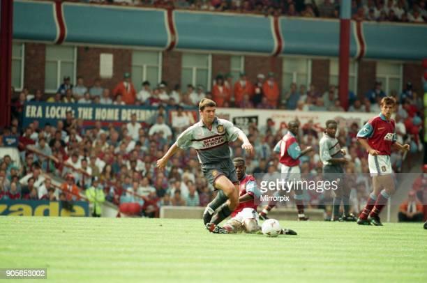 Aston Villa 3 1 Manchester United Premiership match held at Villa Park Roy Keane 19th August 1995