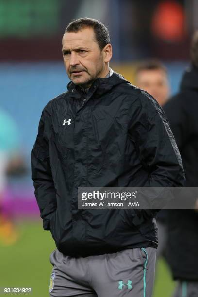 Aston Villa assistant manager Colin Calderwood during the Sky Bet Championship match between Aston Villa and Queens Park Rangers at Villa Park on...