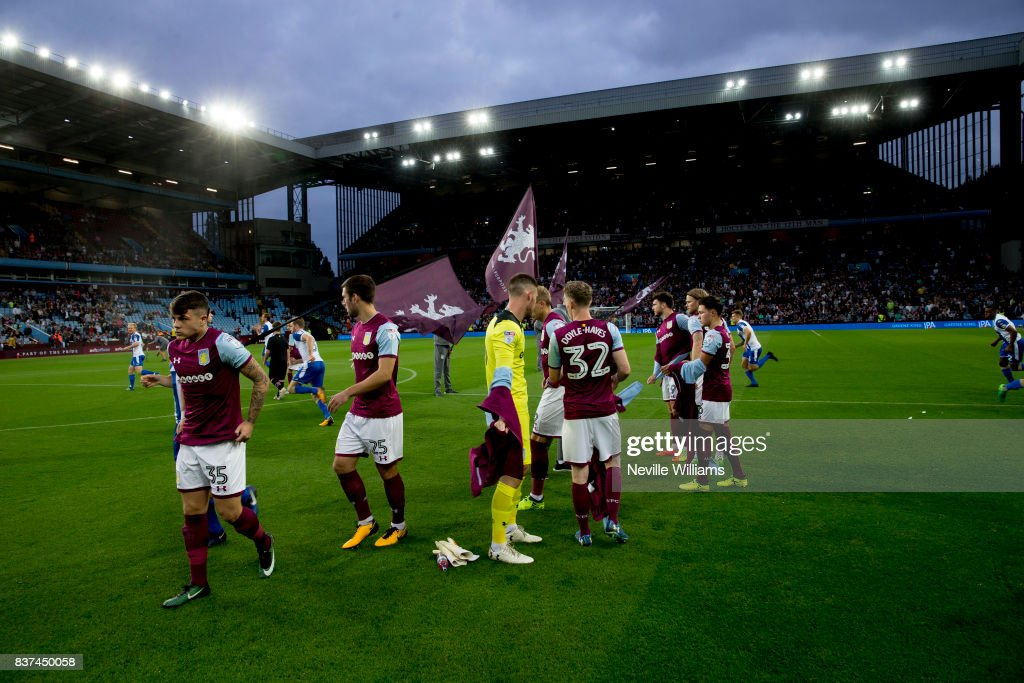 Aston Villa before the Carabao Cup Second Round match between Aston Villa and Wigan Athletic at the Villa Park on August 22, 2017 in Birmingham, England.