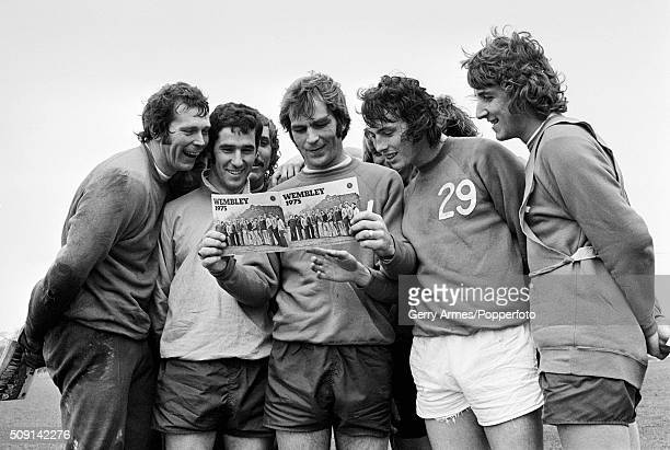 Aston Villa captain Ian Ross is joined by some of his teammates as they get a preview of the club brochure for the League Cup Final in which they...